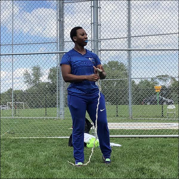 Gwen hammer thrower