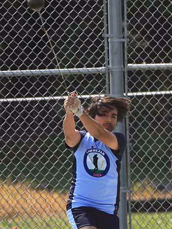 Hammer thrower at Hammerman Field